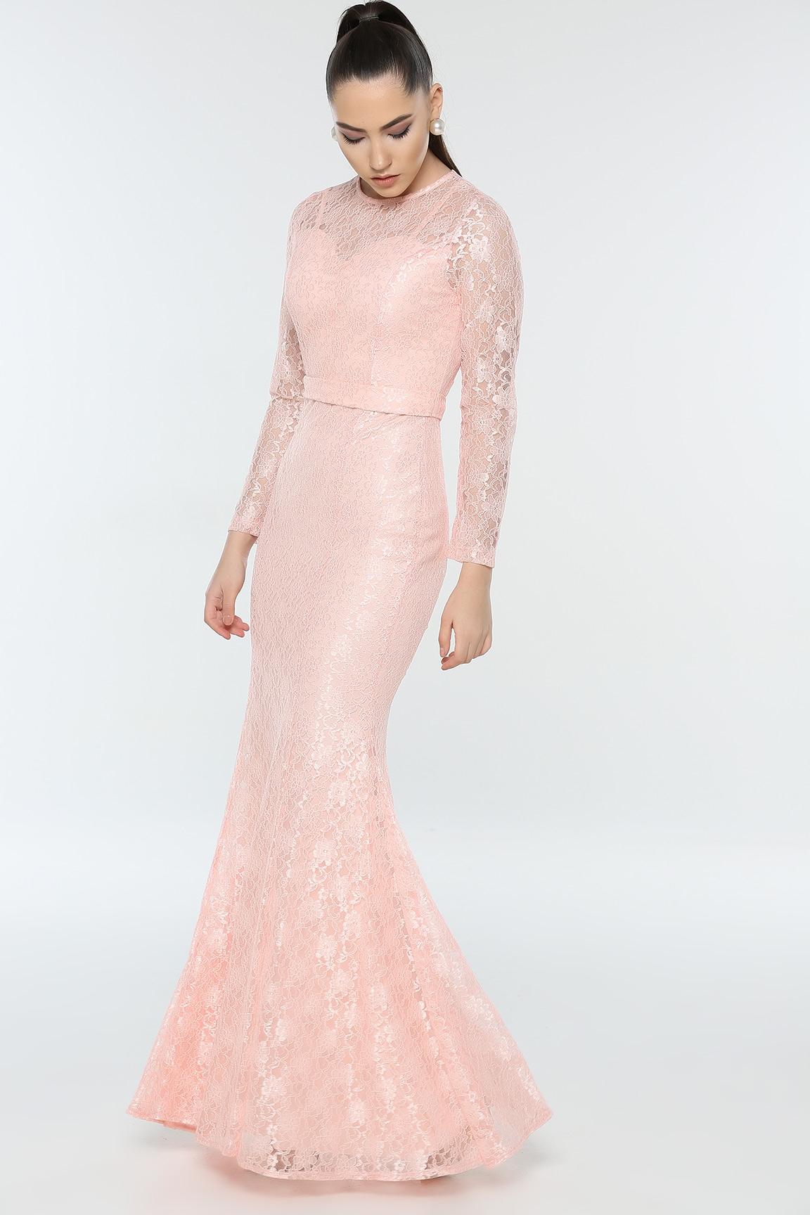Meerjungfrau Kleid mit Spitze