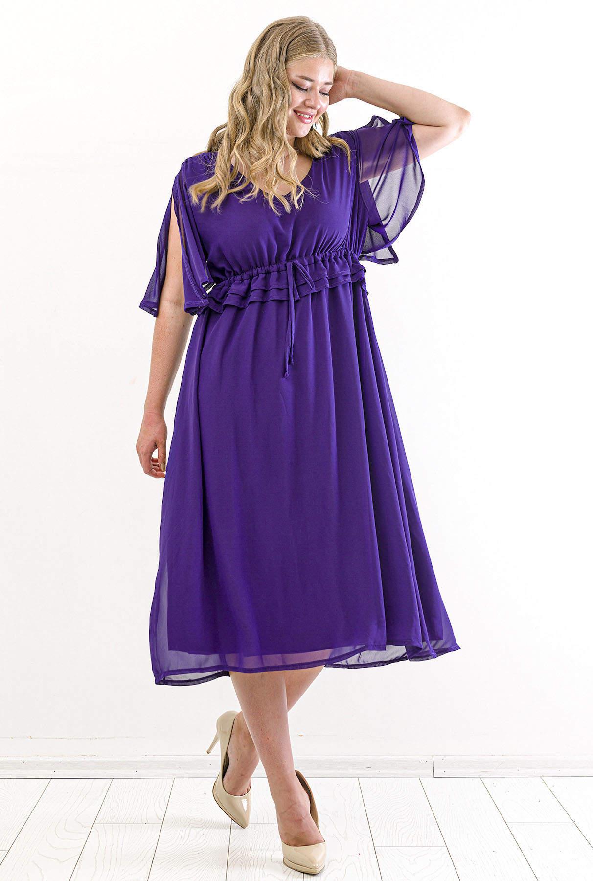 Violett Chiffon Kleid
